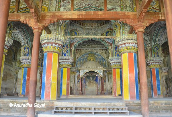 Colorful Durbar Hall at the palace