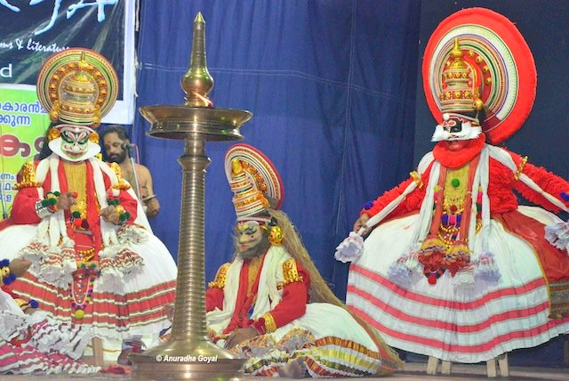 Kathakali performance and its central lamp