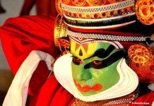 All decked up Kathakali Performer