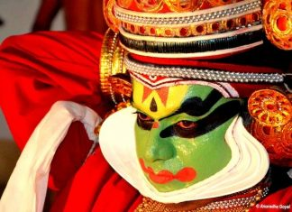 All decked up Kathakali Performer