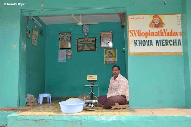 Khoya Shop in Khoya Galli in Shah Ali Banda