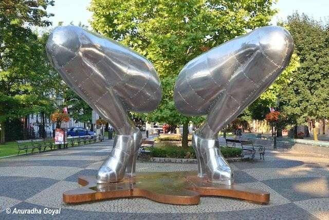 Modern Art Sculpture on the streets of Bratislava