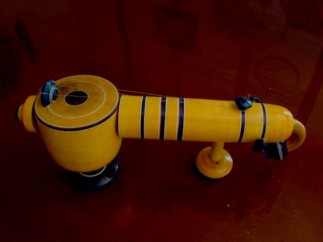 Etikoppaka hand made wooden Veena toy