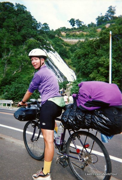 Lash on a biking trip in Japan