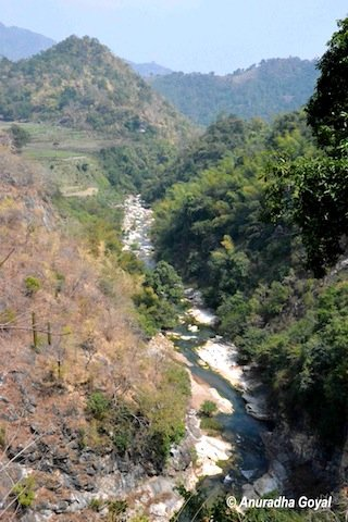 Gosthani river flowing near the Borra Caves