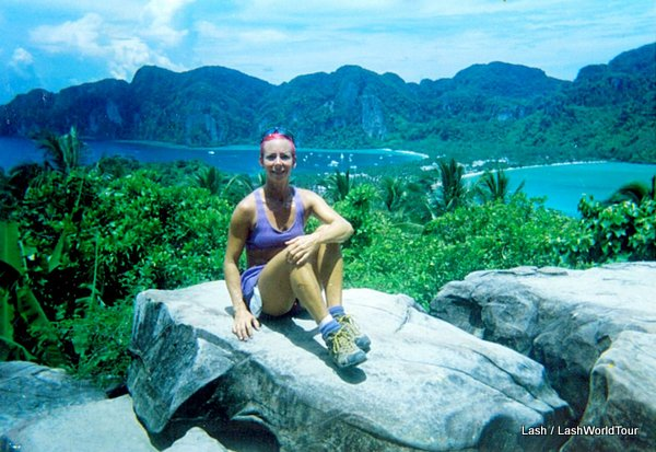 Lash the World Traveler at Koh Phi Phi viewpoint