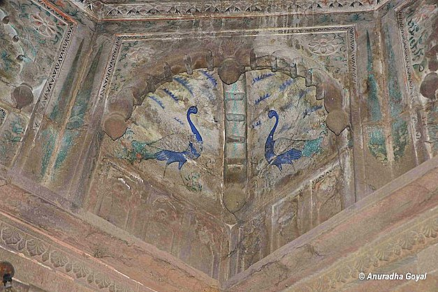 Paintings on ceiling of Vyas temple at Ramnagar Palace