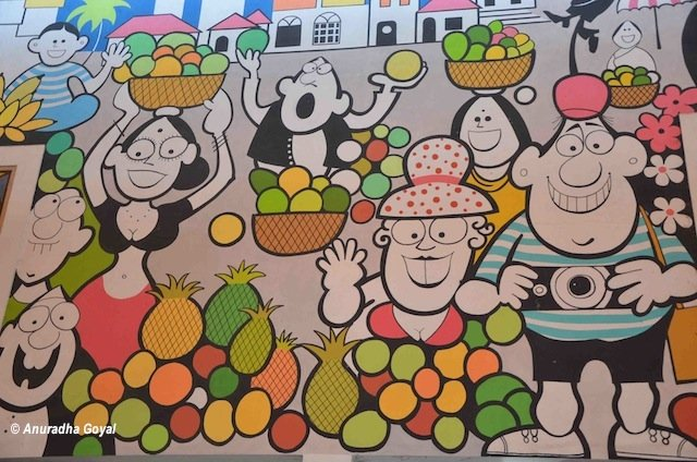 Vegetable Market in his style wall murals