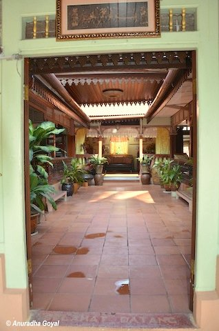 Courtyard at a traditional Malay House in Melaka