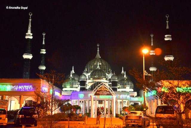 Crystal Mosque or Kristal Mosque at Night