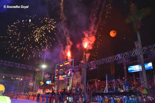 Fireworks at Colors of 1Malaysia Festival