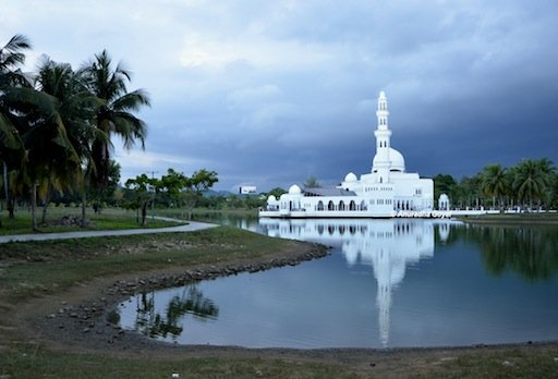 Floating Mosque landscape view, Terengganu, Malaysia
