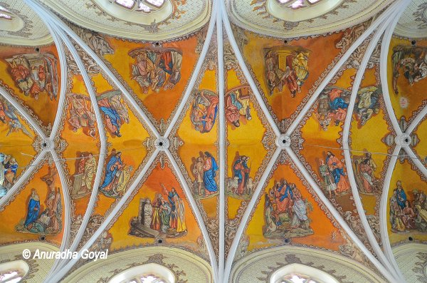 Frescos at Cathedral of the Holy Name, Colaba, Mumbai