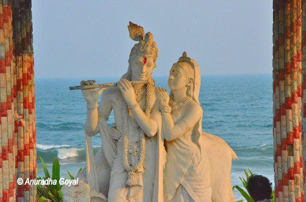 Radha Krishna sculpture at Ramakrishna Beach