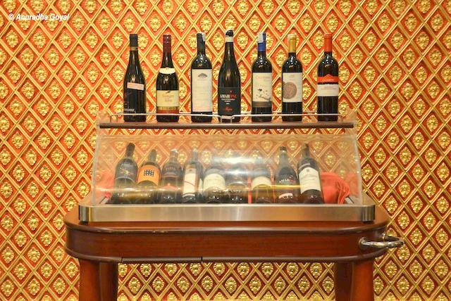 Wine Display at Thai Pavilion