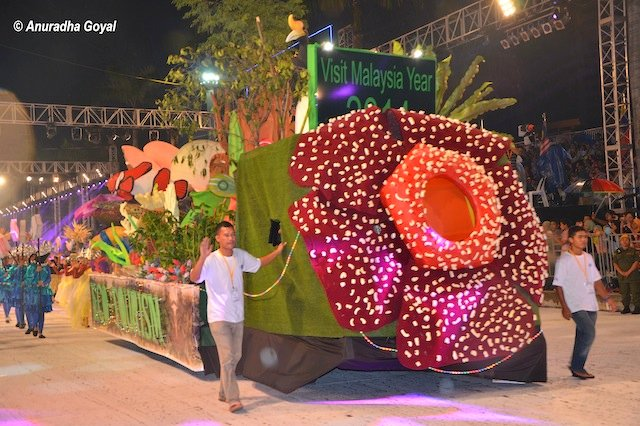 World's largest flower depiction at the Colors of 1Malaysia Festival