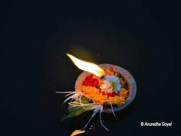 Diya in Godavari River