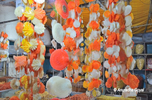 Garlands made of Sweets at Nasik Temples