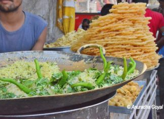 Pohe, Jalebi - the most popular street food of MP at Bhagoria Haat Ranapur
