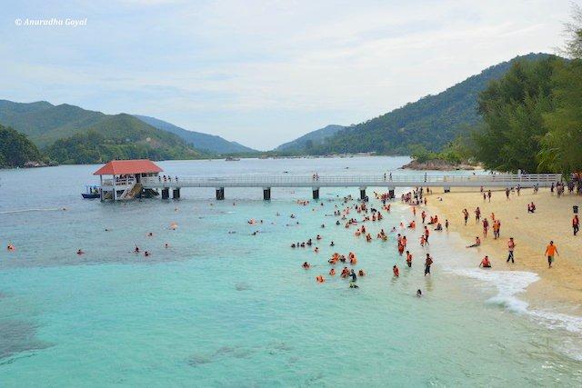 Tourists snorkeling at Redang Island