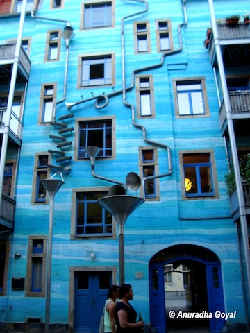 Creative Artistic exteriors of a building at Germany