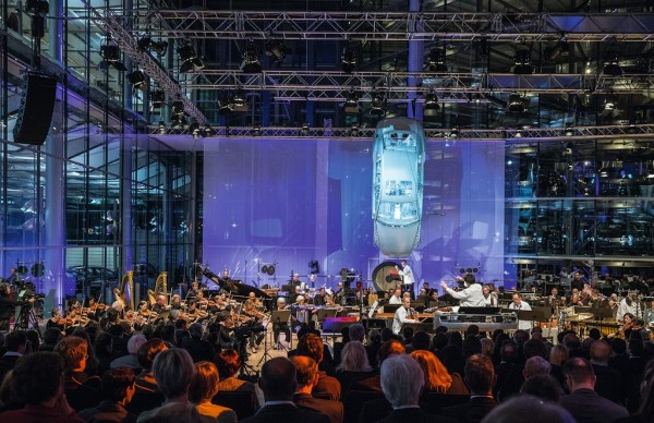 Musical concert at Volkswagen Transparent Factory, Dresden