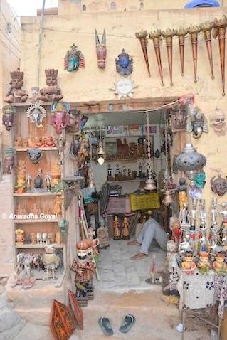 Artifacts shop inside the Jaisalmer Fort
