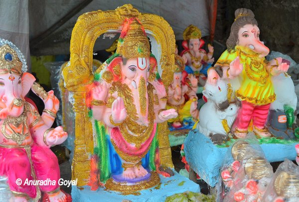 Ganesha takes the form of Lord Venkateshwara
