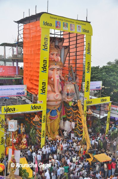 Giant Ganesha Idol at Khairatabad