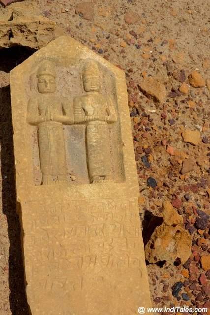 Hero stone at Kuldhara