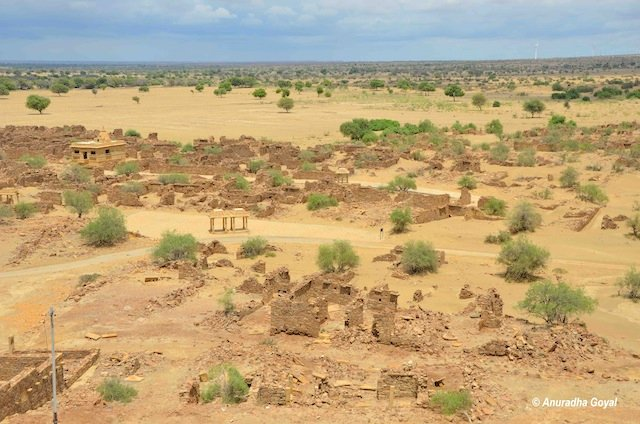 Remains of cursed villages of Kuldhara, Jaisalmer