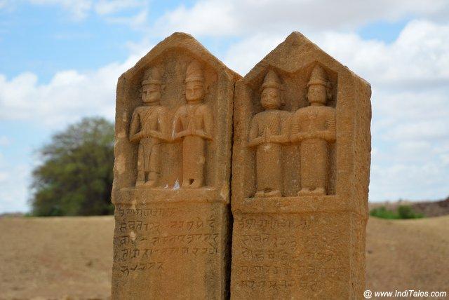 Pair of Hero stones at Kuldhara