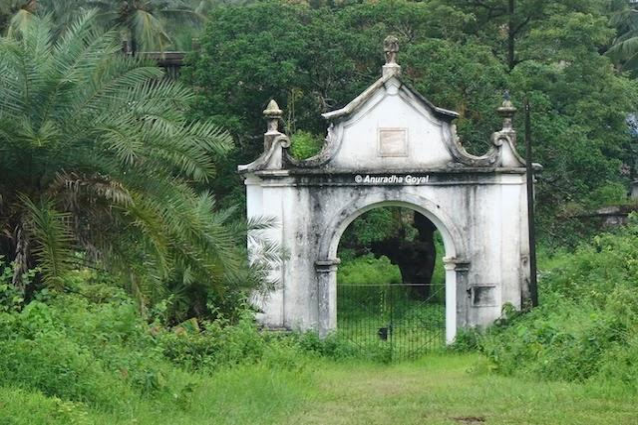 Heritage British cemetery entrance gate