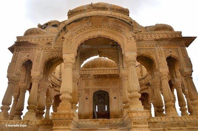 Open Pavilion with Pillars at Bada Bagh