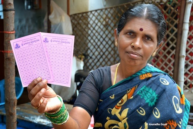 108 Parikramas counting cards on sale at Chilkur Balaji Temple