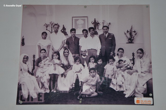 Portrait of Lal Bahadur Shastri with family