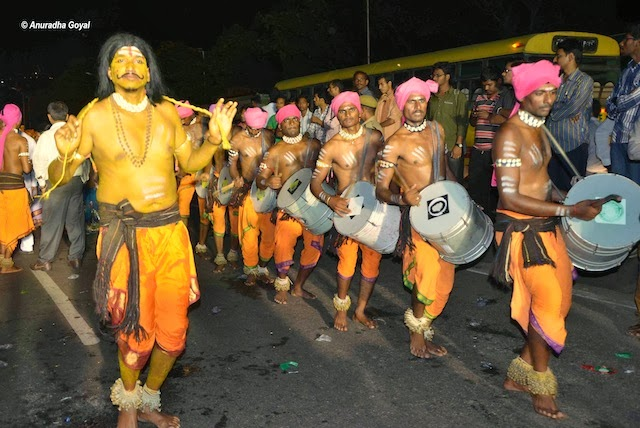 Tribal performance at Bathukamma Festival