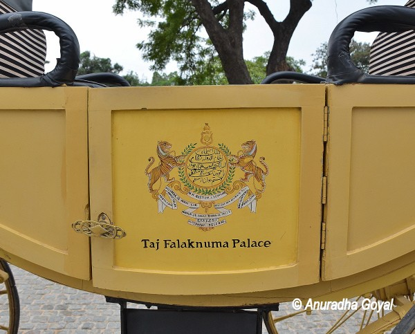Horse drawn carriage at Falaknuma Palace