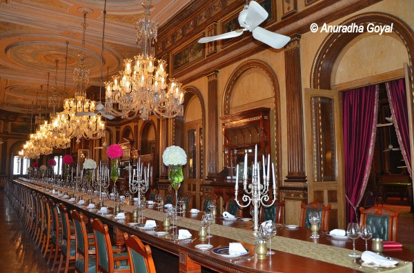 World's longest dining table at Falaknuma Palace