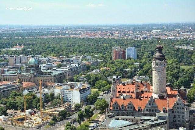 Landscape view of Leipzig cityscape, Germany