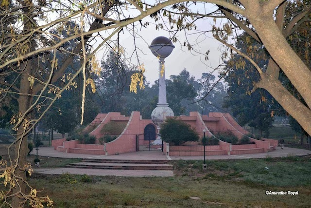 A monument in the park at Ropar