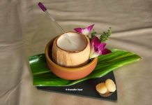 Soup in Coconut shell