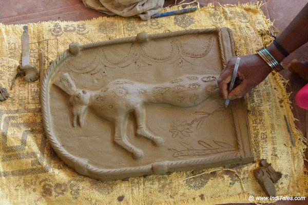 Clay Figurines designing at Araku Tribal Museum