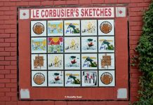 A collage of Le Corbusier's Sketches