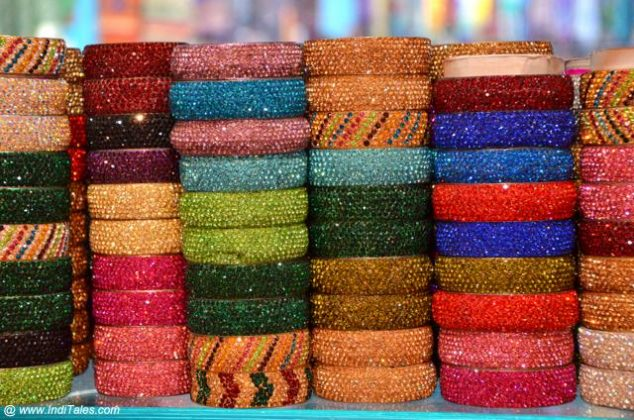 Colorful Hyderabadi Bangles at Laad Bazaar