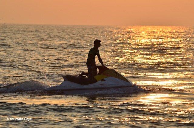 Jet Ski water sports at Utorda Beach