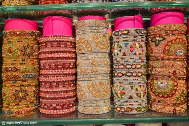 Stack of Hyderabadi Bangles