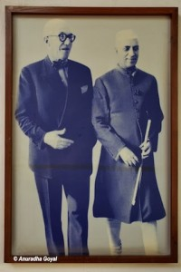 The architect with Prime Minister Nehru