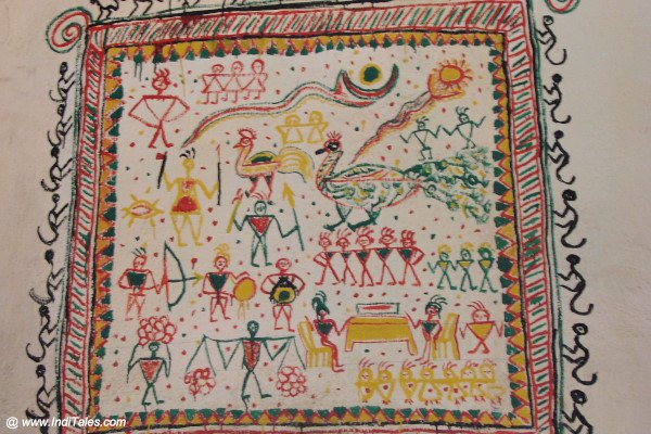 Tribal Painting on display at Araku Tribal Museum