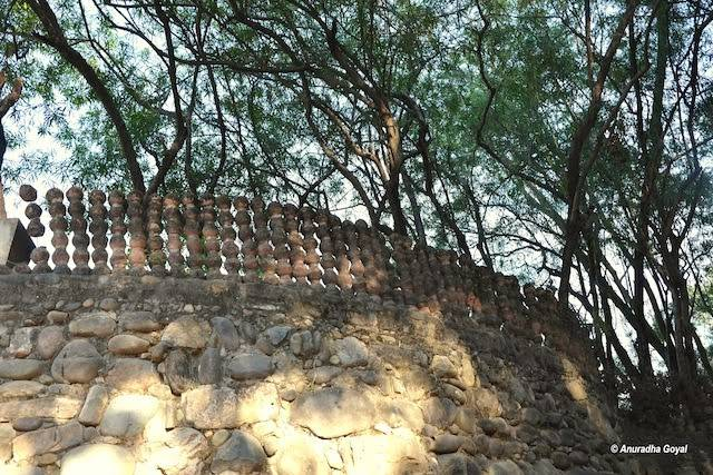 Clay Pot Ramparts of Rock Garden Chandigarh